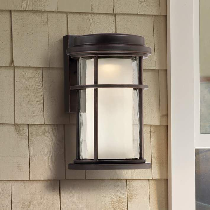 Park view bronze 10 1 2 high led outdoor wall light v1685