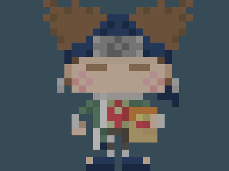 Famous Characters In Pixel Art Choji Akimichi チョウジ