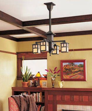 Ceiling Options For Front Reception Area Craftsman Lighting Craftsman Style Interiors Craftsman Living Rooms