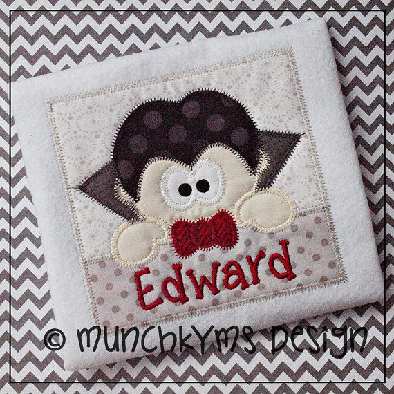 Hey, I found this really awesome Etsy listing at https://www.etsy.com/listing/161265517/peeking-vampire-applique