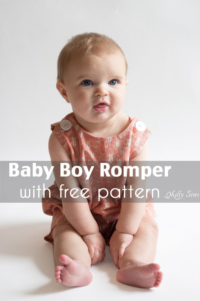 Top 5 Tutorials of 2013 – Baby Boy Romper Tutorial - Melly Sews ...