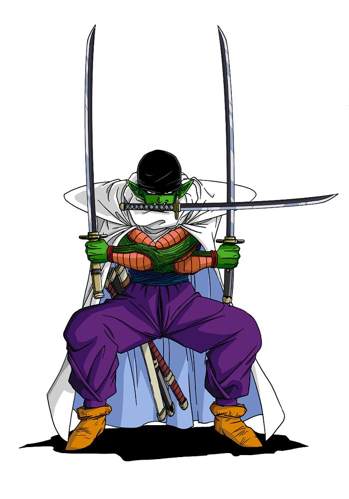 Crossover dragon ball one piece piccolo zoro this is - Dragon ball one piece ...