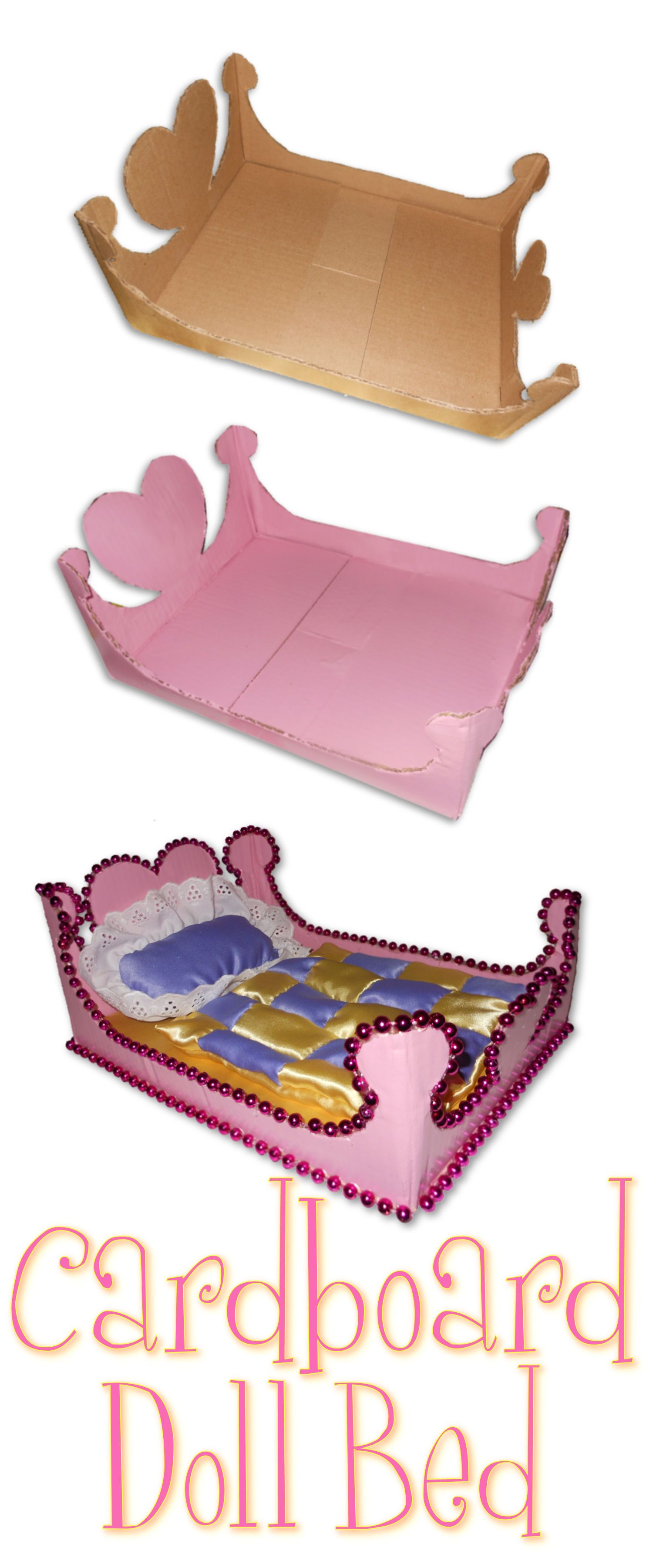 Cardboard Doll Bed Made This For Aiyanna Diy Arts And