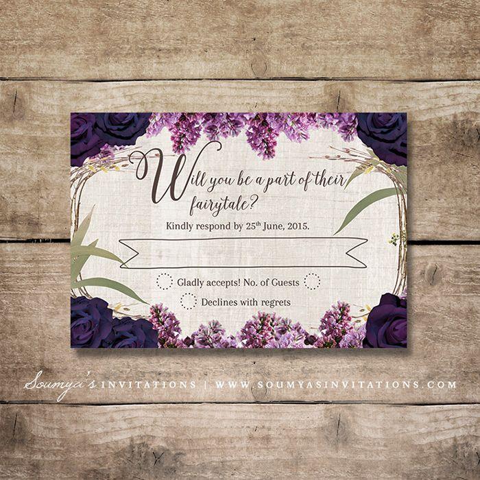 Enchanted-Forest-Wedding-Invitation-RSVP-Purple-Wedding-Fairy-Tale ...