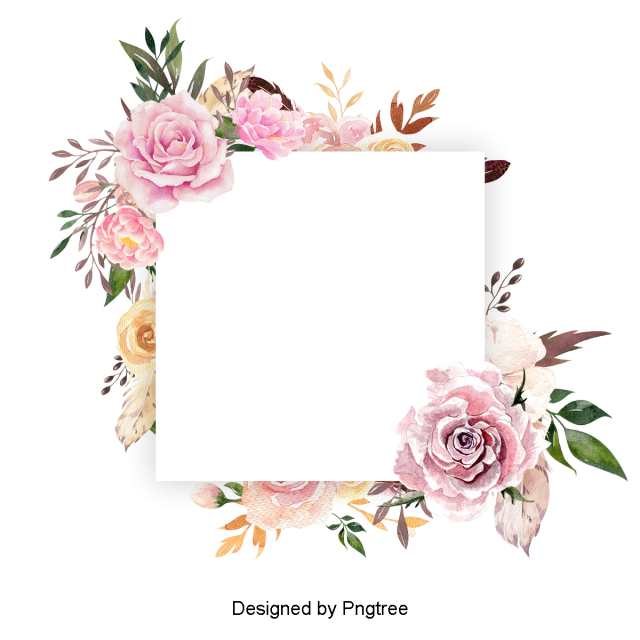 Beautiful Paint Watercolor Floral Wreath, Flower, Flowers