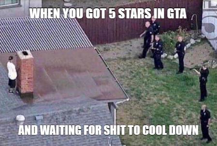 When You Got 5 Stars In Gta Gta Funny Jokes Pics Fortnite
