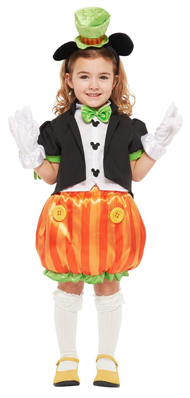 amazon | ディズニー パンプキンミッキー キッズコスチューム 女の子