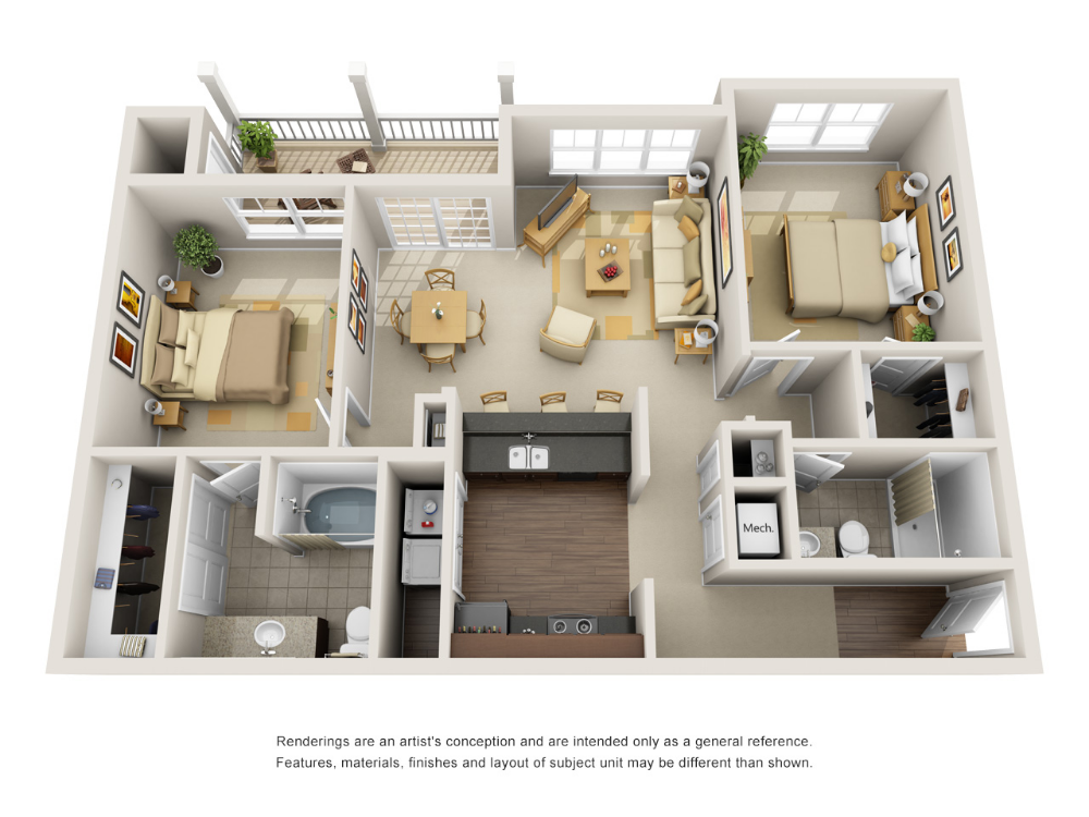 1 2 And 3 Bedroom Luxury Apartments In Fort Wayne In