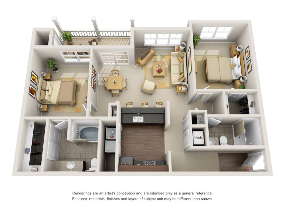 1 2 And 3 Bedroom Luxury Apartments In Fort Wayne In Steadfast Apartment Rental Floorplans Luxurious Bedrooms Luxury Apartments Country Bedroom Decor