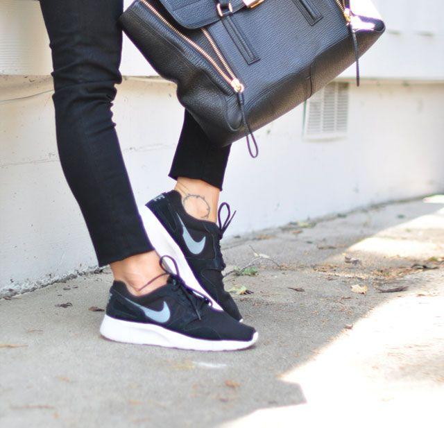 black nike sneakers-black jeans-phillip lim bag
