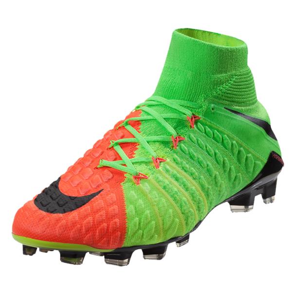 New Nike Hypervenom Phantom III DF FG Flyknit Boots Black Orange