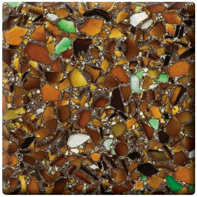 Vetrazzo Ale House Amber Counter Top Made From Recycled