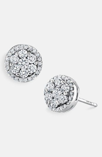 aa342564c Bony Levy 'Flower' Button Diamond Earrings (Nordstrom Exclusive) available  at #Nordstrom