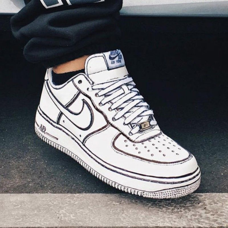 Details about One Pair of Custom Nike Air Force 1's by Joshua Vides Men's US Size 12