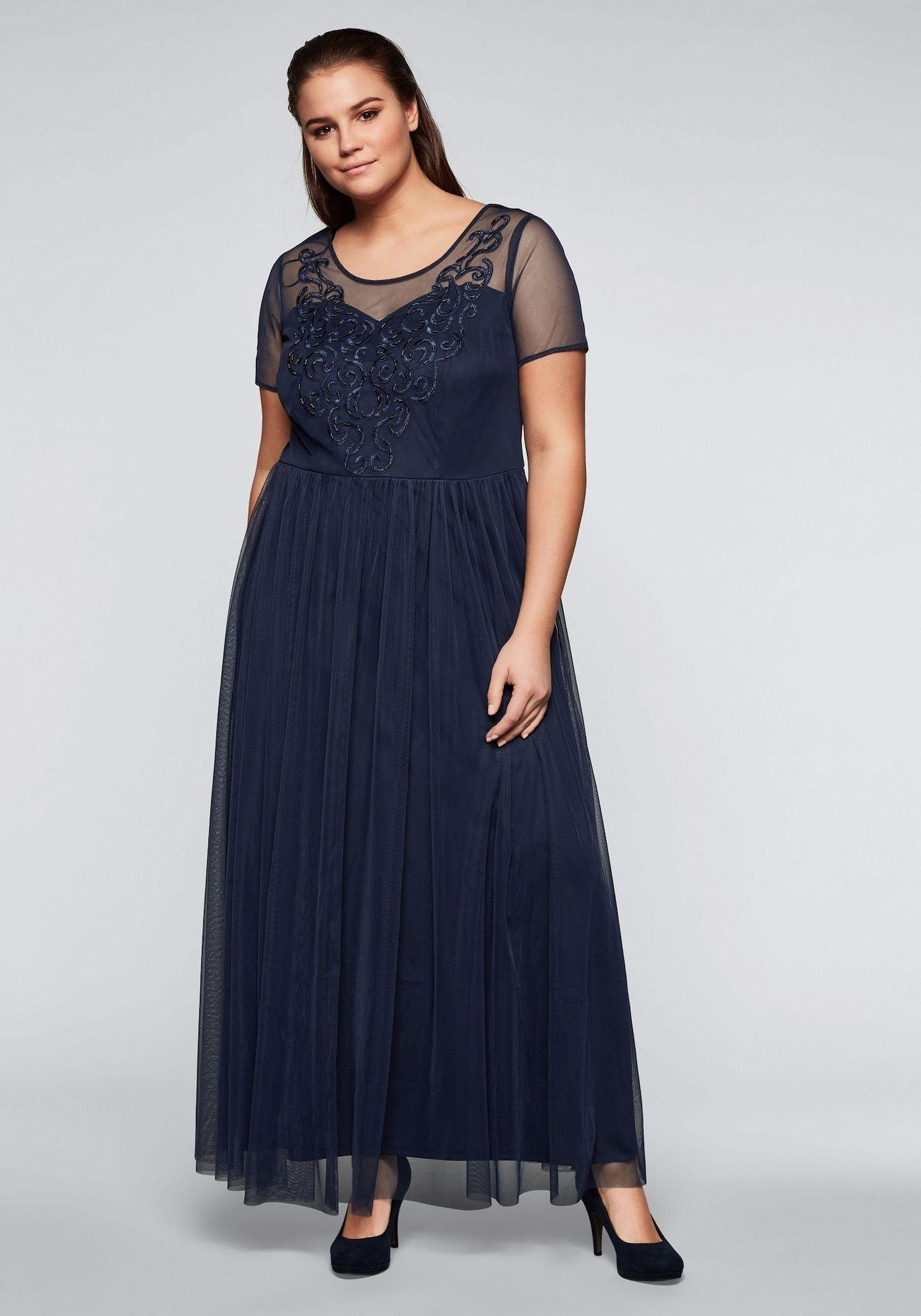 SHEEGO Abendkleid in nachtblau  Abendkleid, Kleider und Elegante