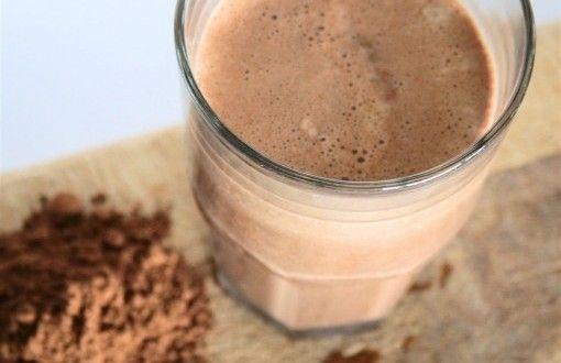 Batido de proteína de chocolate   Recetas para adelgazar