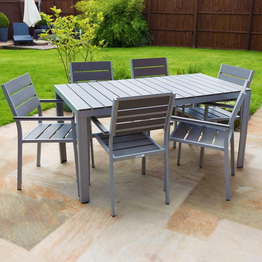 Outdoor Furniture Polywood Dining Table Set 6 Seater Garden