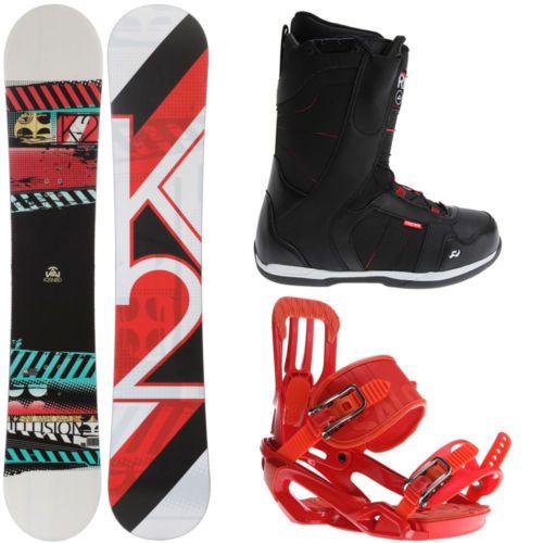 K2 Illusion 161 Mens Snowboard + Salomon Rhythm Red