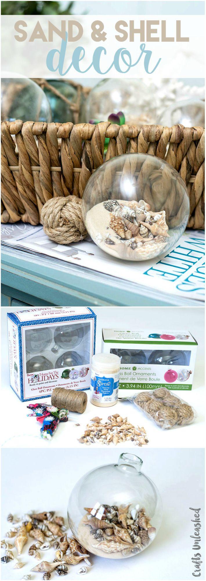 Diy Shell Decor Coastal Spheres Consumer Crafts Shell