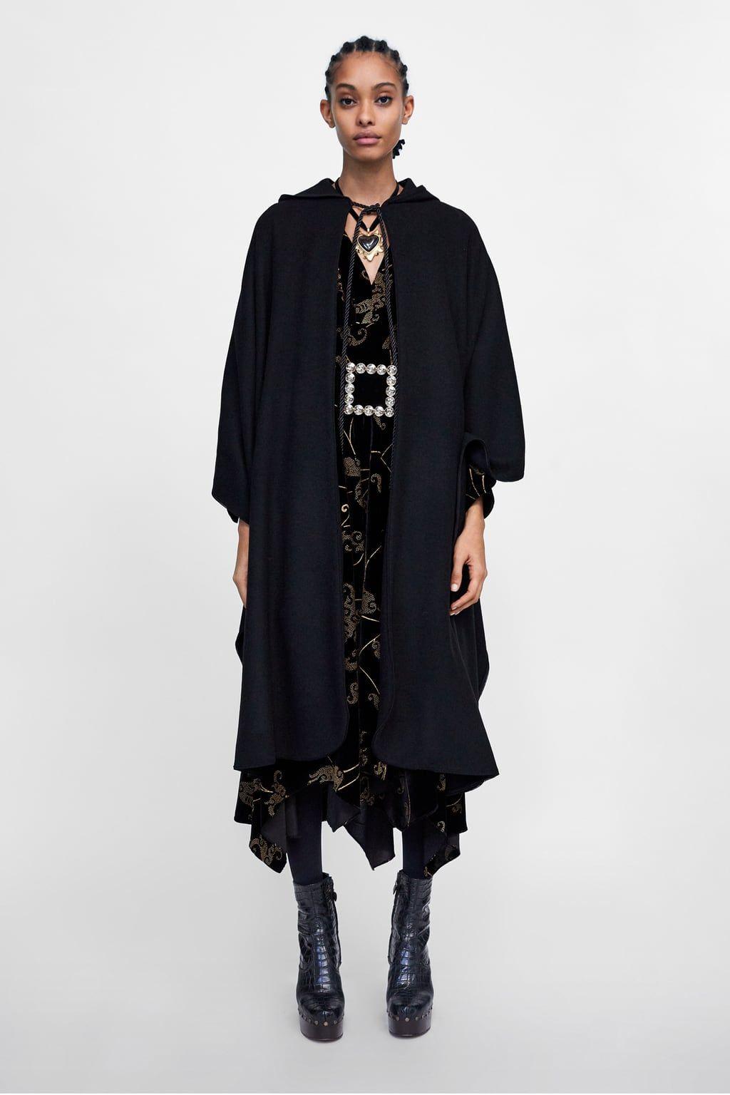 1e7b413c Long hooded cape | Dear Santa.......... | How to wear, Zara, Fashion