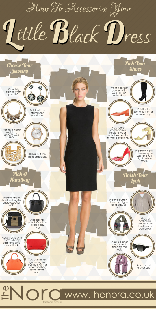 How To Accessorize Your Little Black Dress #Infographic