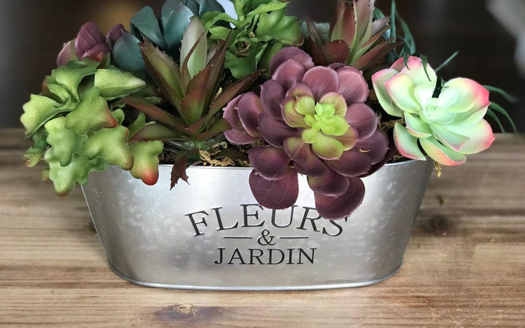 Diy Artificial Succulent Arrangement Cheap And Easy Artificial