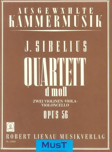 Sibelius String Quartet In D Minor Op56 Voces Intimae Set Of