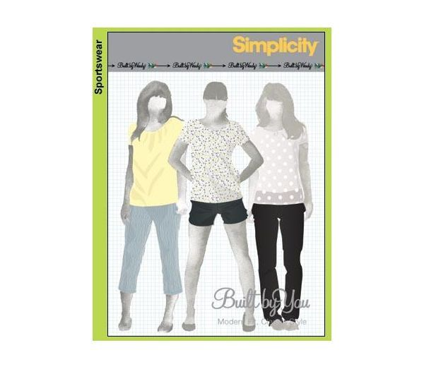 Simplicity 3850 Built By Wendy Misses Slim Trousers, Capris & Shorts ...