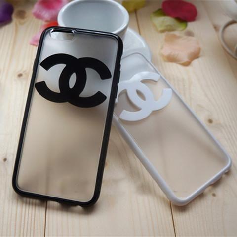シャネル iPhone7 クリアケース ハード アイフォン7 プラスカバー chanel ロゴ 薄型 アップル ペアケース お揃い 安い 新品