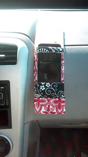DIY Cell Phone Holder for your car from poplinandplums com  Shop
