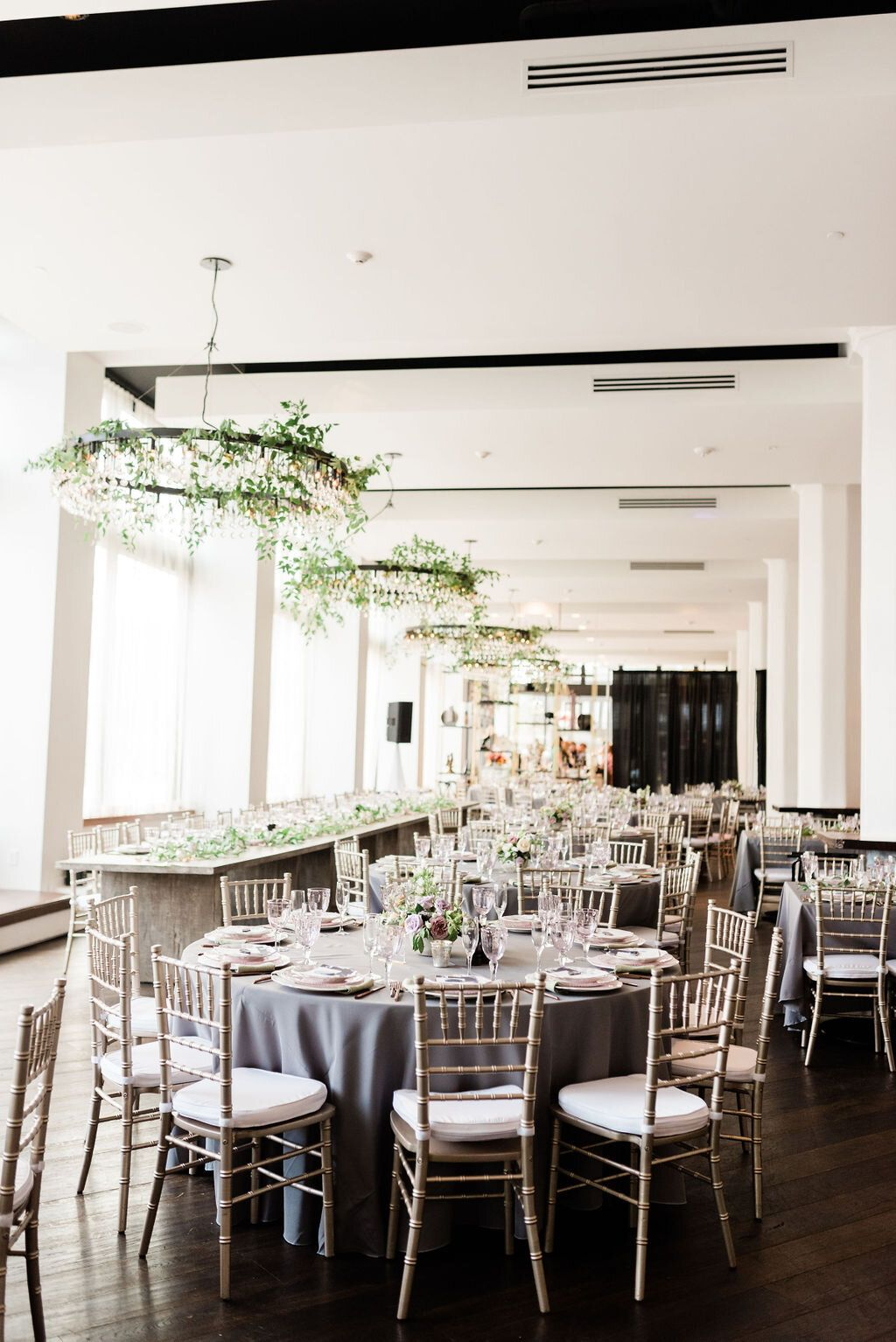 lavender summer wedding hotel covington chandelier greenery kentucky wedding lavender wedding pinterest