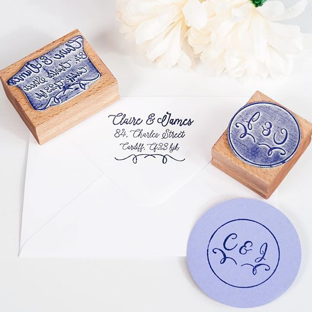 custom rubber stamps for your wedding stationery personalised