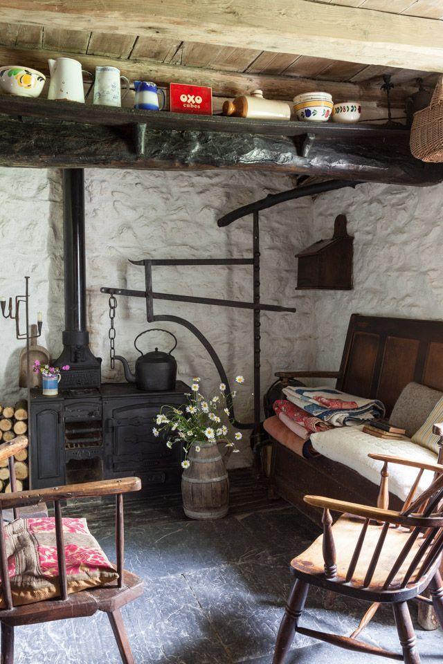cociña de ferro   indoors   Pinterest   Rústico, Rincón acogedor y ...