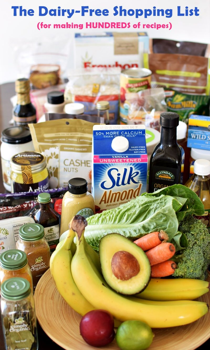 The Dairy-Free Shopping List for Making Hundreds of Recipes (Printable; Gluten-Free Optional)