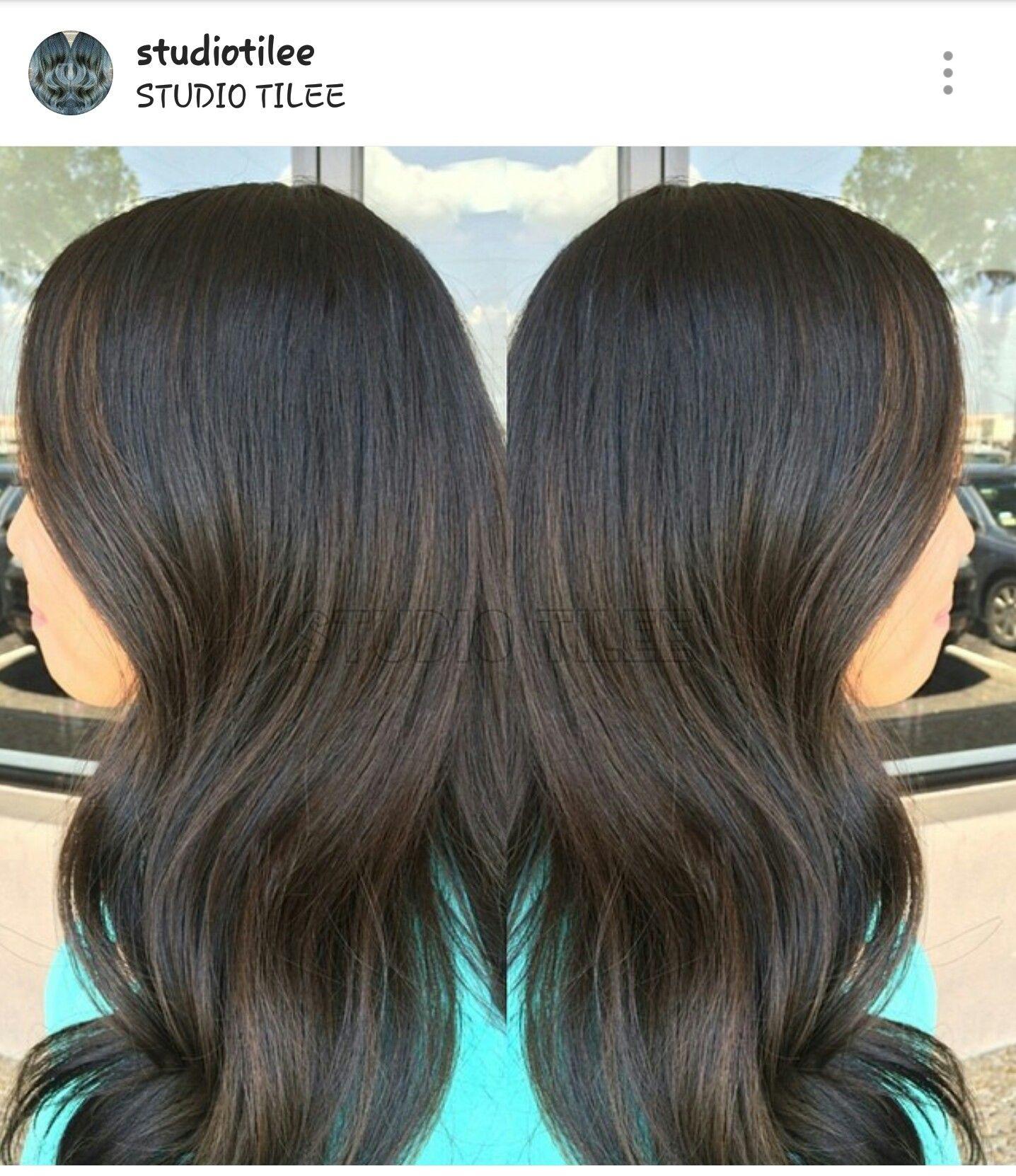 Subtle brown balayage on black hair 3 hair pinterest brown subtle brown balayage on black hair 3 urmus Gallery