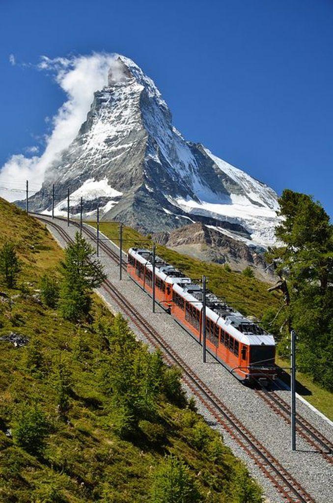 mountain train, Switzerland
