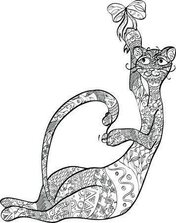coloriage original de chat