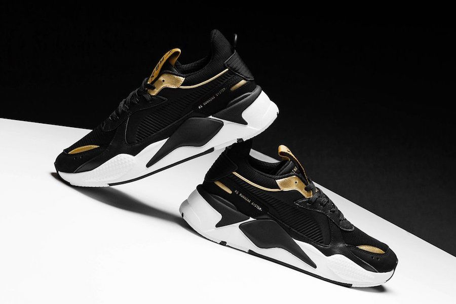 Puma RS-X Trophy Black Gold Release Info | Pumas shoes, Puma ...