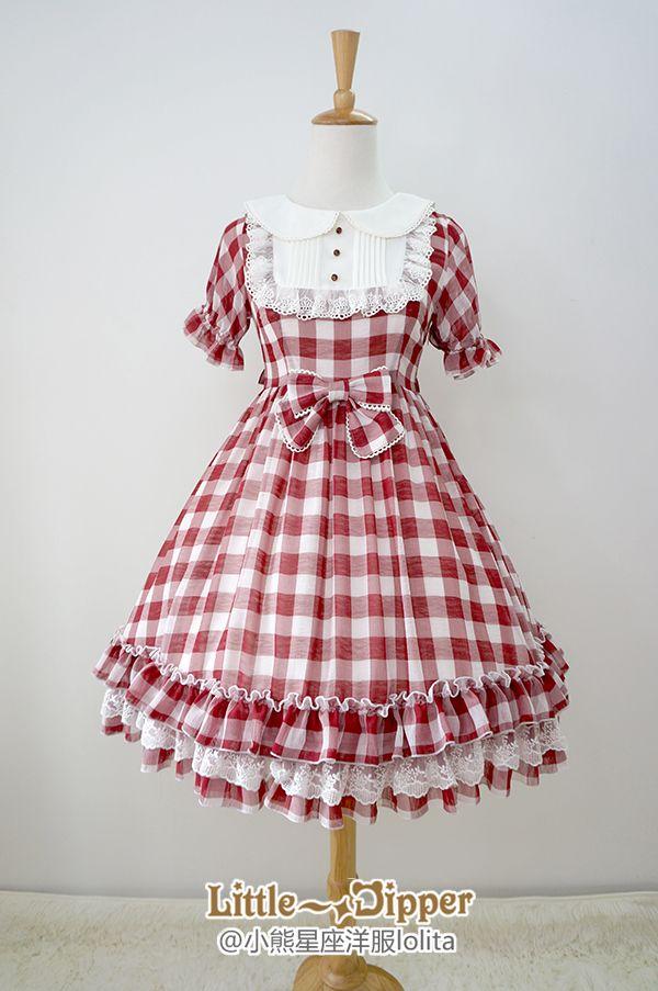 Little Dipper -Sweet Summer Dream- Gingham Chiffon Lolita OP Dress ...