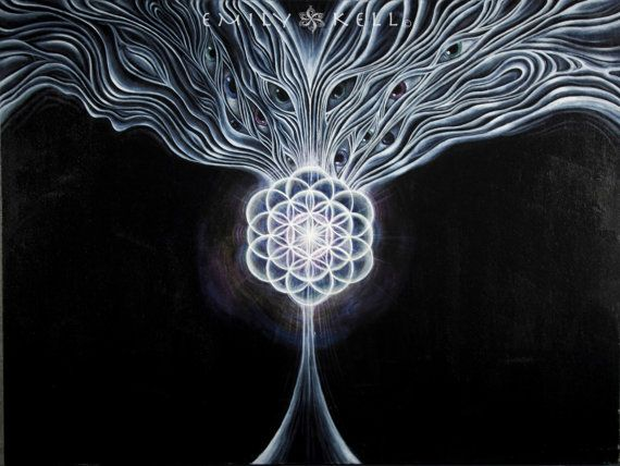 Creation Song visionary art canvas giclee print ON SALE by emkell, $200.00