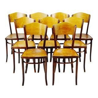 Vintage 1920 S Fischel Bentwood Cafe Chairs Thonet Bentwood Style