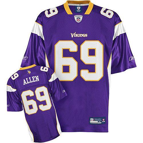 ... Reebok Minnesota Vikings Jared Allen 69 Purple Replica Jerseys Sale  Vikings 18 Sidney Rice Purple Stitched NFL ... 815f91a37eb