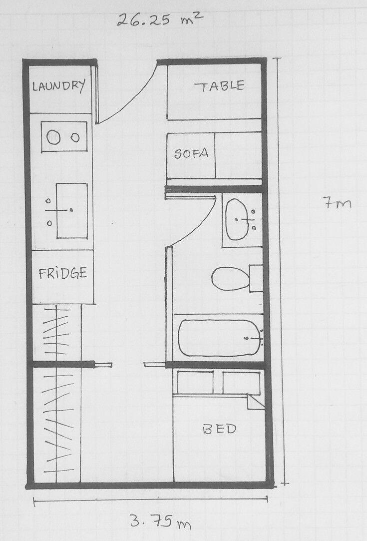 Grundriss Kleines Haus Kleines Haus Hausplan Grundriss Pinterest