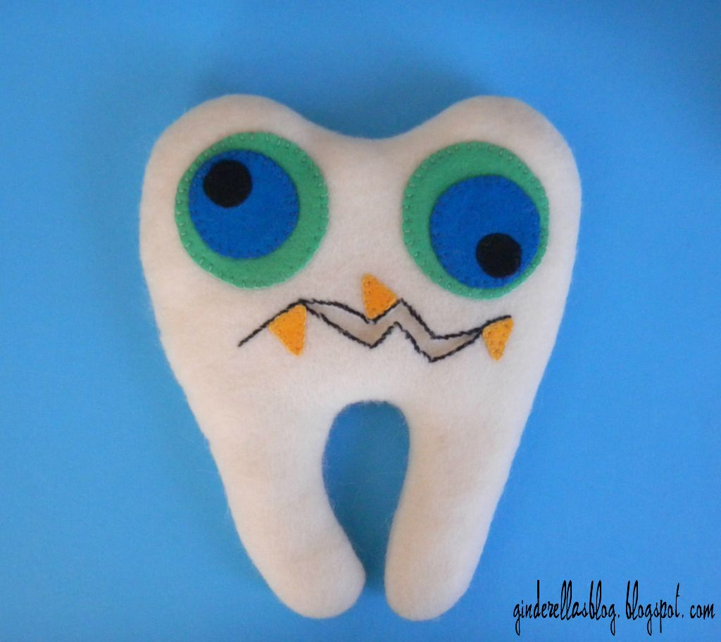 creating in glass slippers: Monster Tooth Fairy Pillow