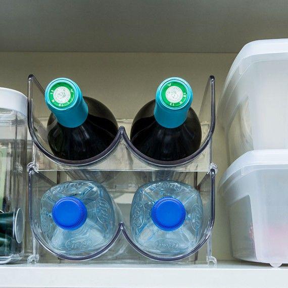 Range Bouteilles Empilable Refrigerateur Range Bouteille Range Bouteille Cuisine Plastique Transparent