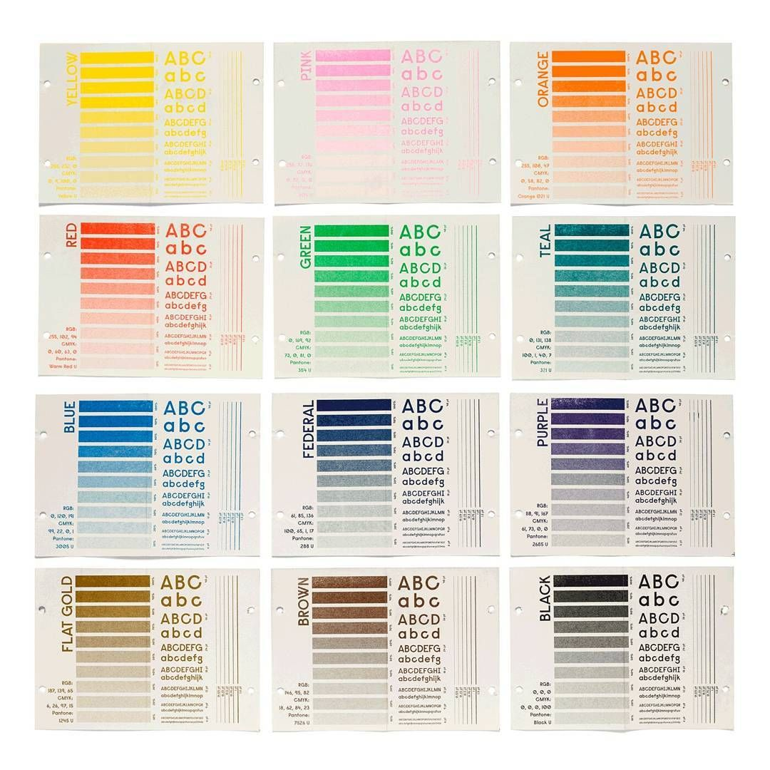 Color chart para a @melimelopress #risograph#risography ...