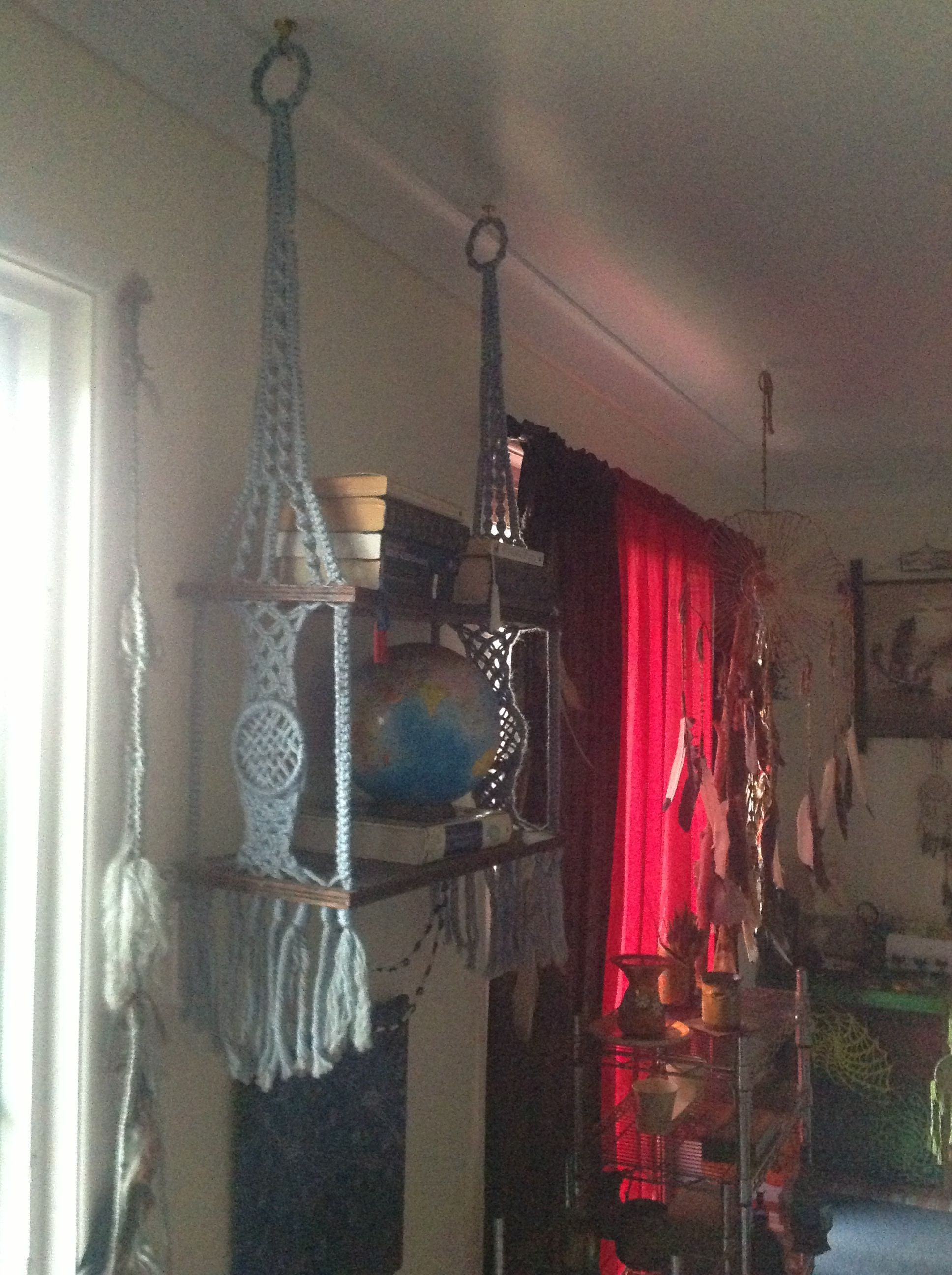 Hanging shelves- macrame. | My Inspiration's ...