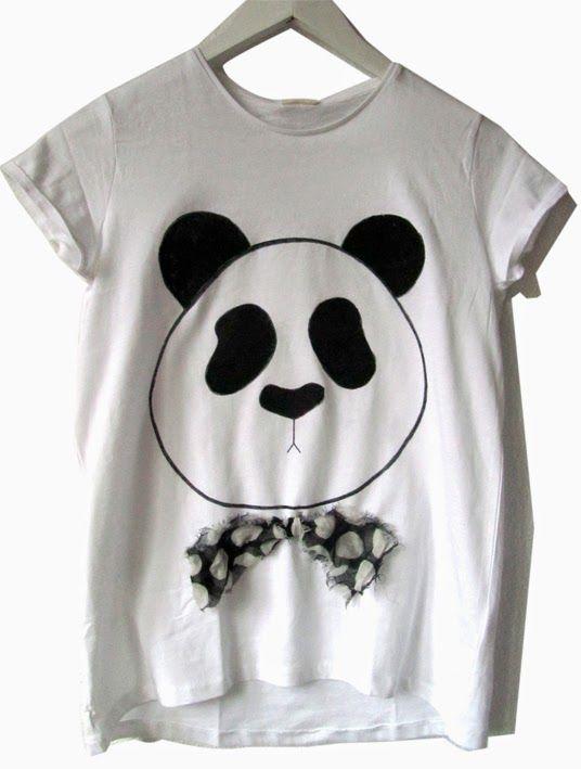 elcuadernodeideas: Camiseta oso-panda   Costura   Panda, Panda shirt ...