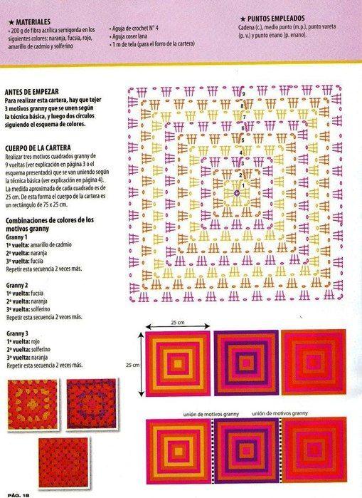 Materiales gráficos Gaby: Prendas realizadas con grannys | ideas ...