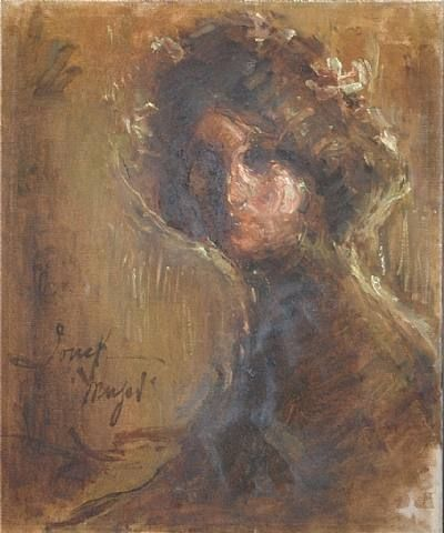 Untitled, Portrait of a Woman; by Cuban artist Fidelio Ponce de Leon